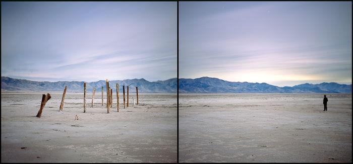 4x5 film 2 frames under a full